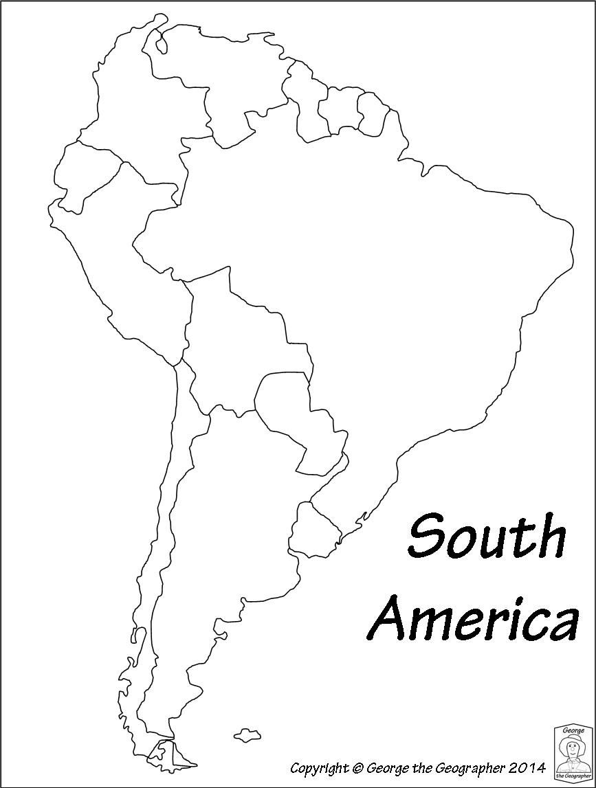 Latin America Printable Blank Map South Brazil Maps Of Within And - Free Printable Outline Map Of North America