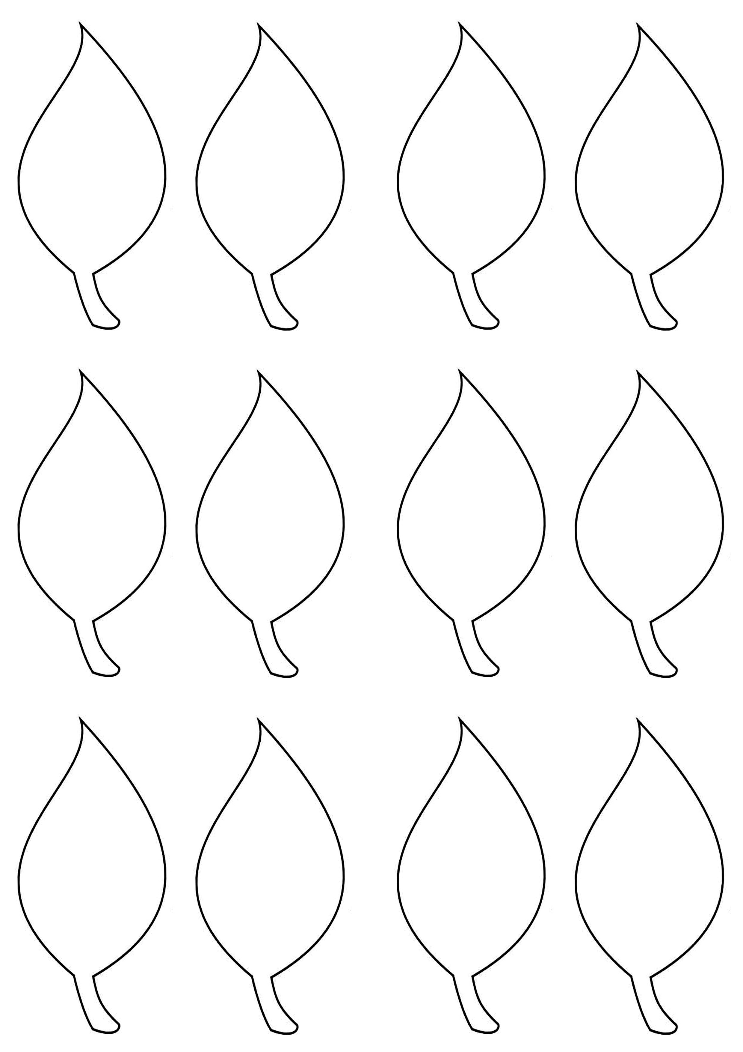 Leaf Template   Easter, Spring & St. Patty's Day   Leaf Template - Free Printable Leaf Template
