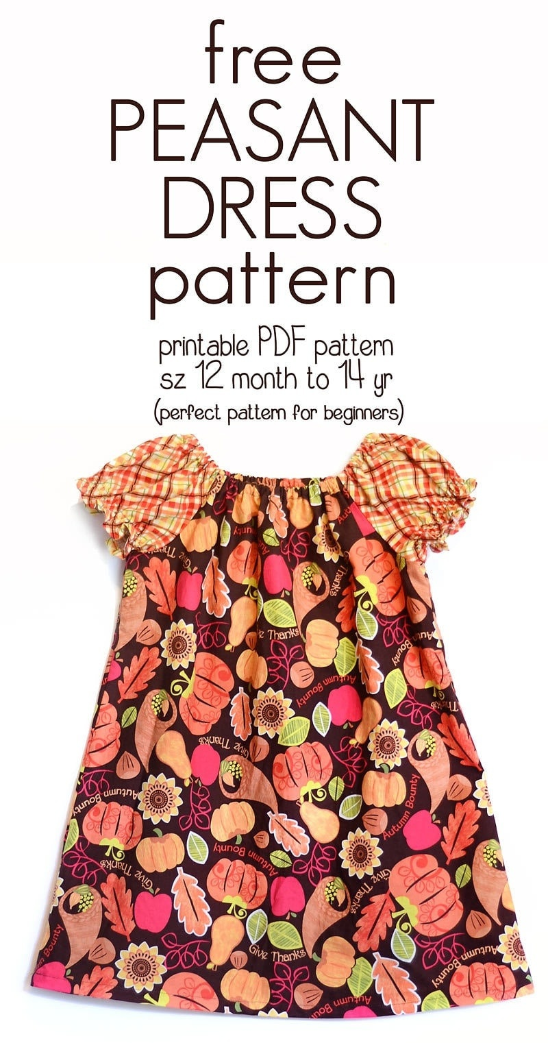 Learn How To Sew A Peasant Dress With This Free Peasant Dress - Free Printable Toddler Dress Patterns