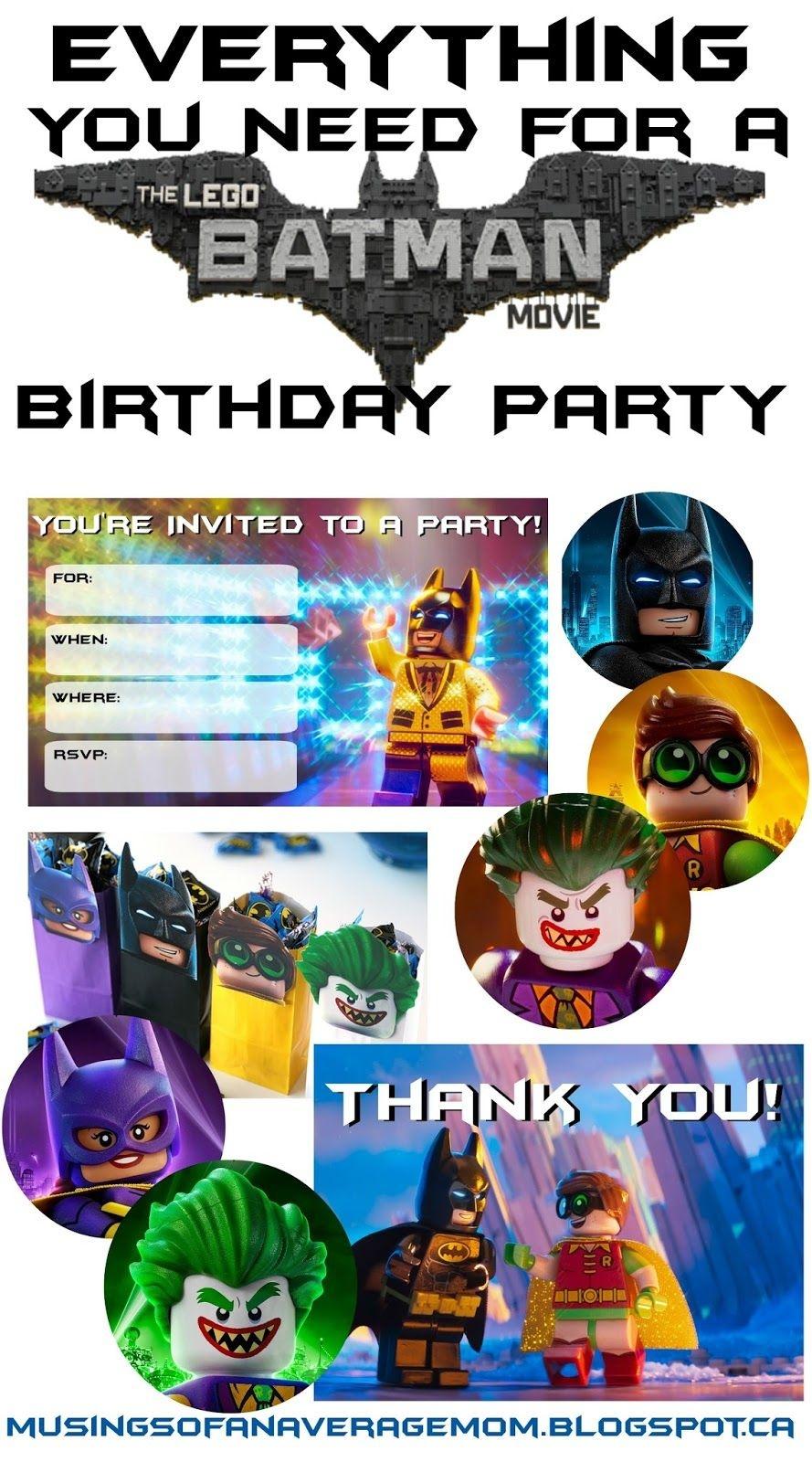 Lego Batman Thank You Cards | Lego Batman 5Th Bday | Lego Batman - Lego Batman Party Invitations Free Printable