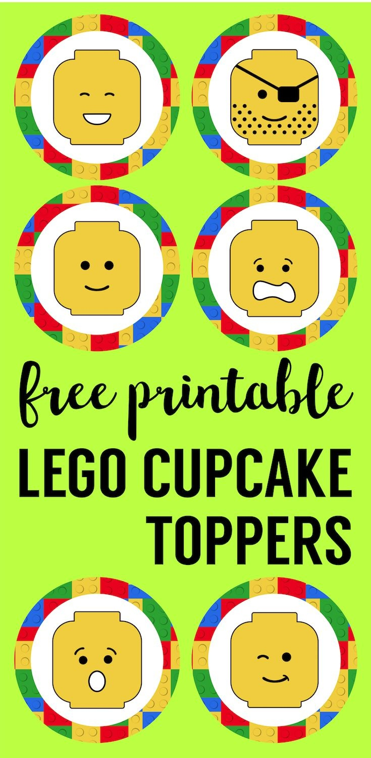 Lego Cupcake Toppers Printable | Future Classroom | Lego Cupcakes - Free Printable Lego Cupcake Toppers
