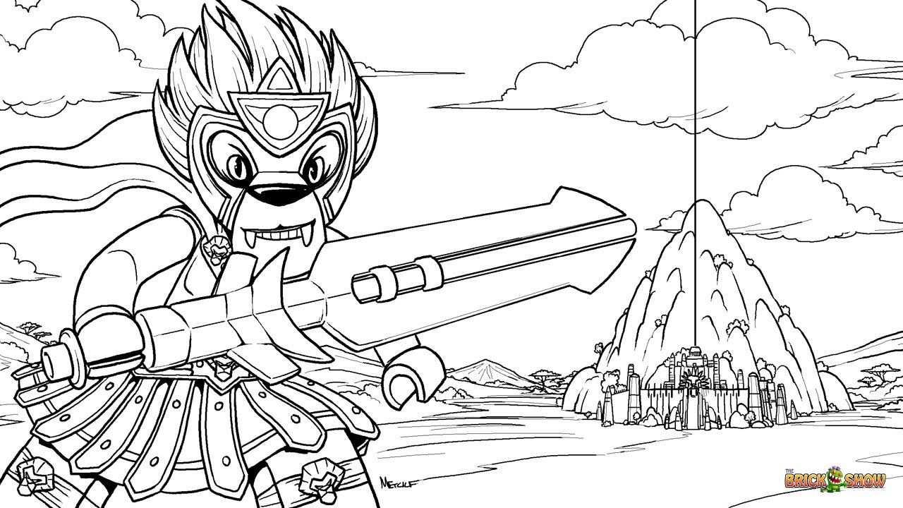 Lego Legends Of Chima Coloring Page, Lego Lego Laval And The Chi - Free Printable Lego Chima Coloring Pages