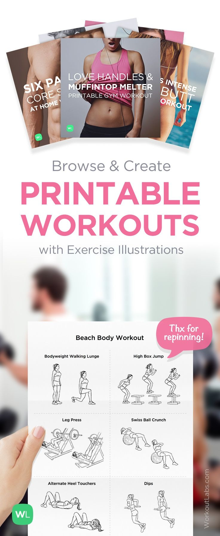 Legs And Bum Day | Excercise Abs | Printable Workouts, Fitness, Workout - Free Printable Gym Workout Plans
