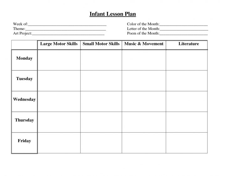 Free Printable Lesson Plan Template Blank