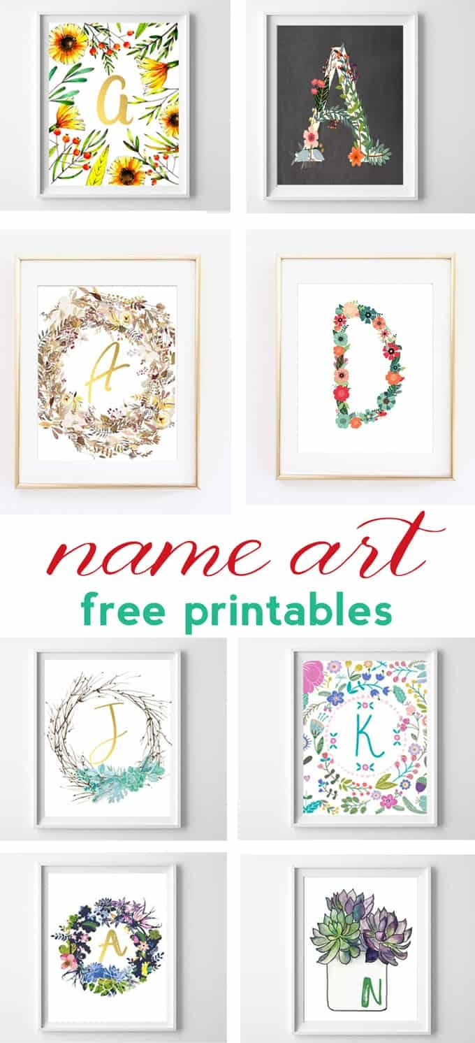 Letter Art {My Favorite Sources For Personalized Letter And Name Art} - Free Printable Photo Letter Art