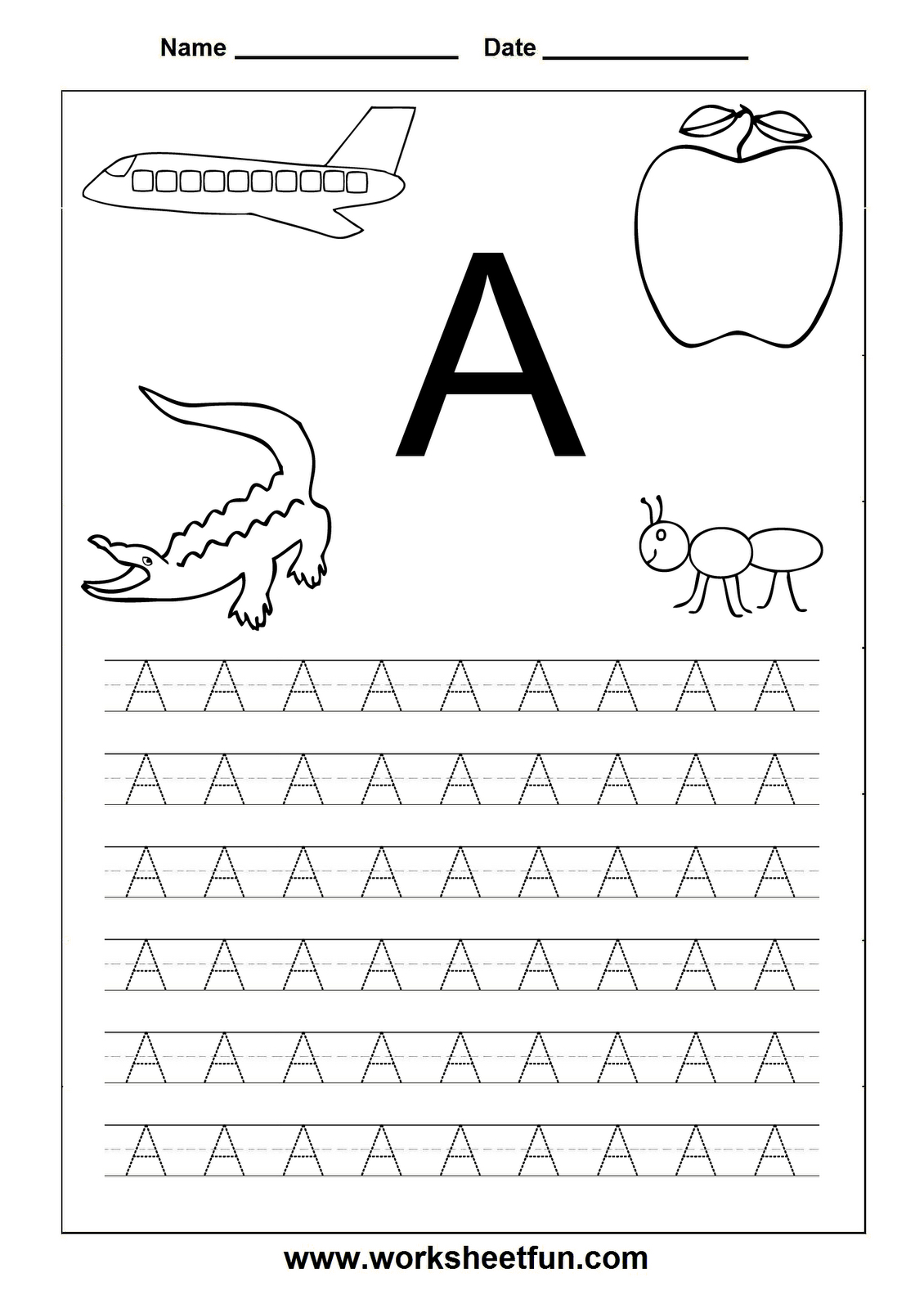 Letter Worksheets For Kindergarten Printable | Letters | Toddler - Free Printable Letter Worksheets