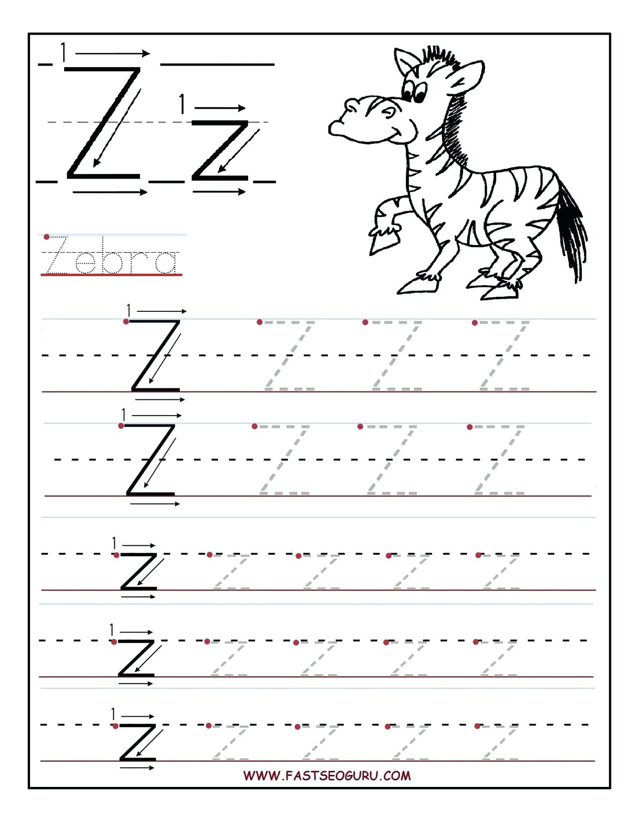 Letter Z Preschool Pinon Decor Tracing Worksheets Printable - Letter Z Worksheets Free Printable