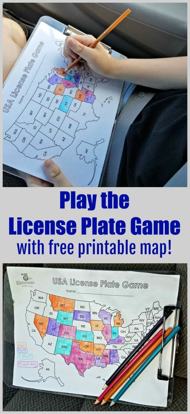 License Plate Game In 2019   Free Printables   Road Trip Games, Road - Free Printable Car Ride Games