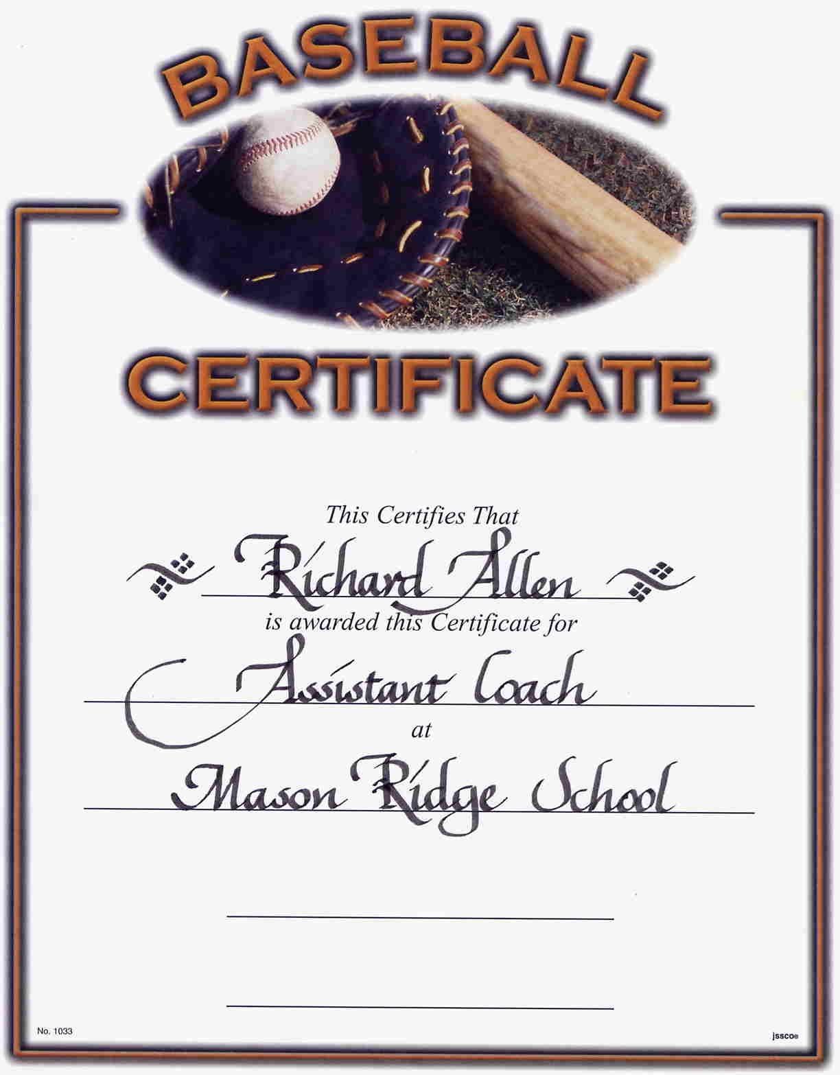 Little League Baseball Award Certificates - Google Search | Discount - Free Printable Baseball Certificates