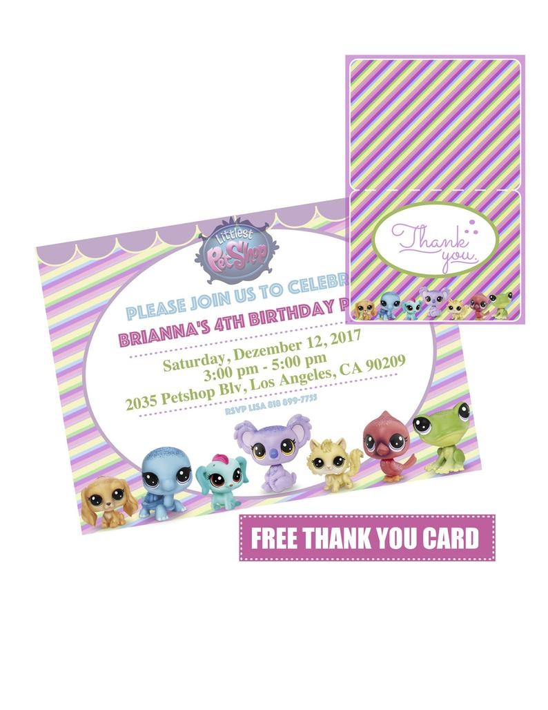 Littlest Pet Shop Invitation Lps Invitation Littlest Pet | Etsy - Littlest Pet Shop Invitations Printable Free