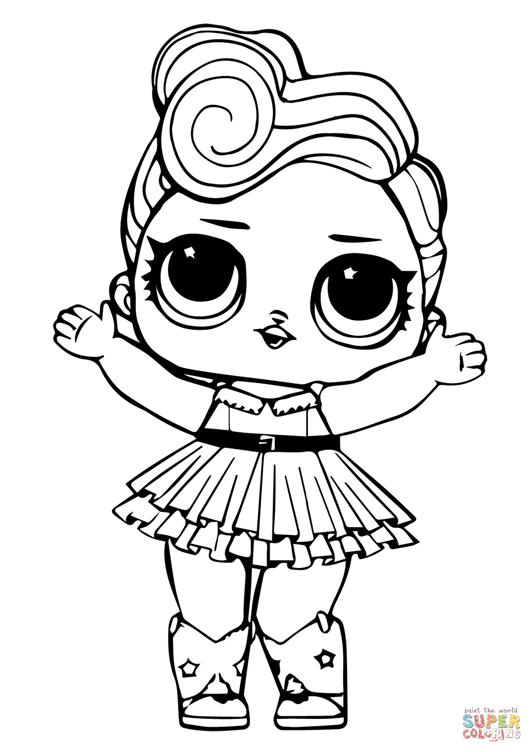 Lol Doll Luxe Coloring Page   Free Printable Coloring Pages   Lol - Free Printable Coloring Pages For Kids