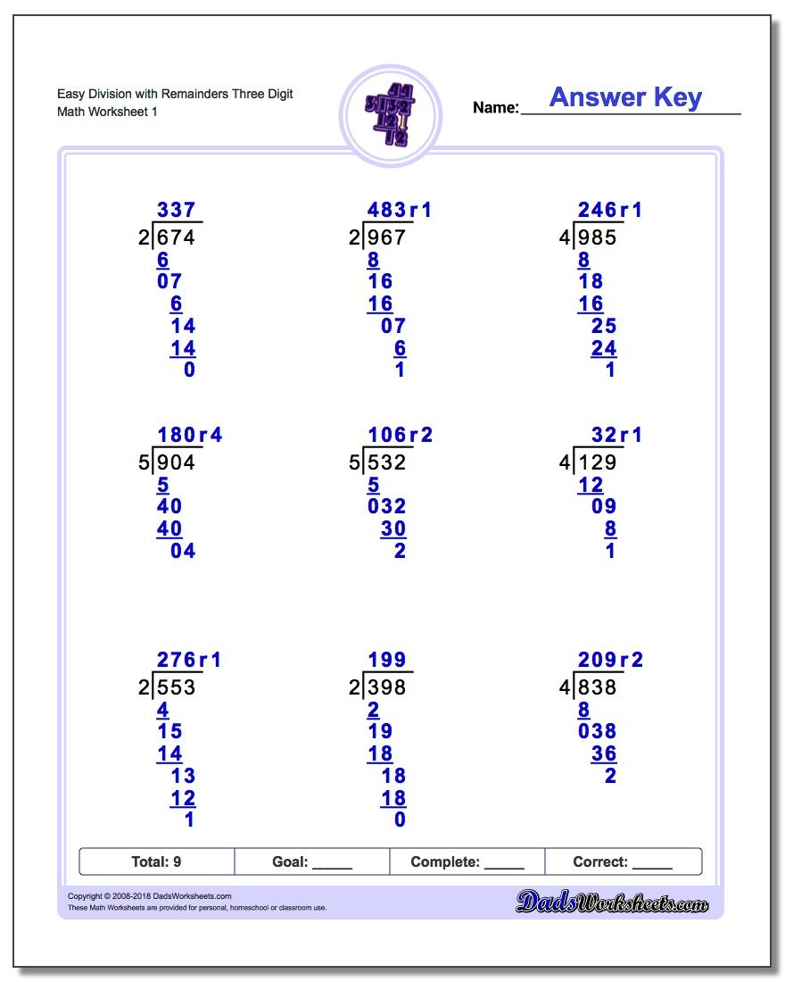 Long Division Worksheets: Division With Remainders - Free Printable Long Division Worksheets 5Th Grade