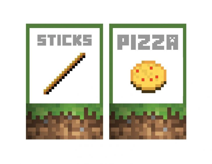 Free Printable Minecraft Food Labels
