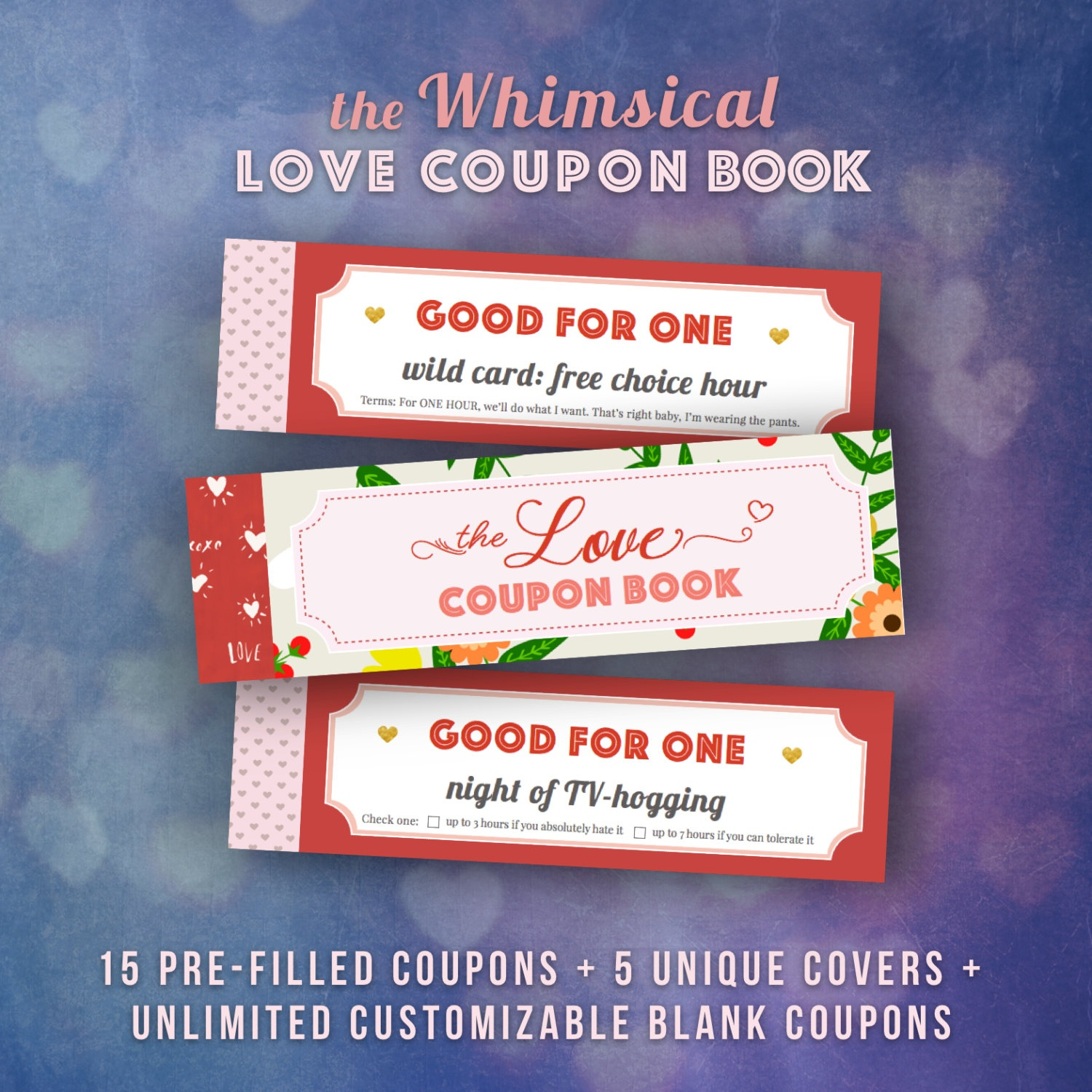 Love Coupons Book For Him Valentines Day Gift Ideas Husband   Etsy - Free Printable Coupon Book For Boyfriend