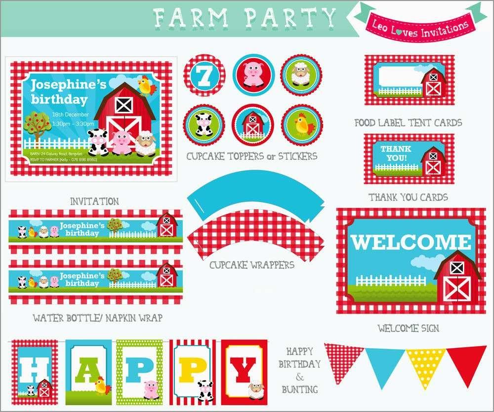 Lovely Free Farm Birthday Invitation Templates | Best Of Template - Free Printable Farm Birthday Invitations