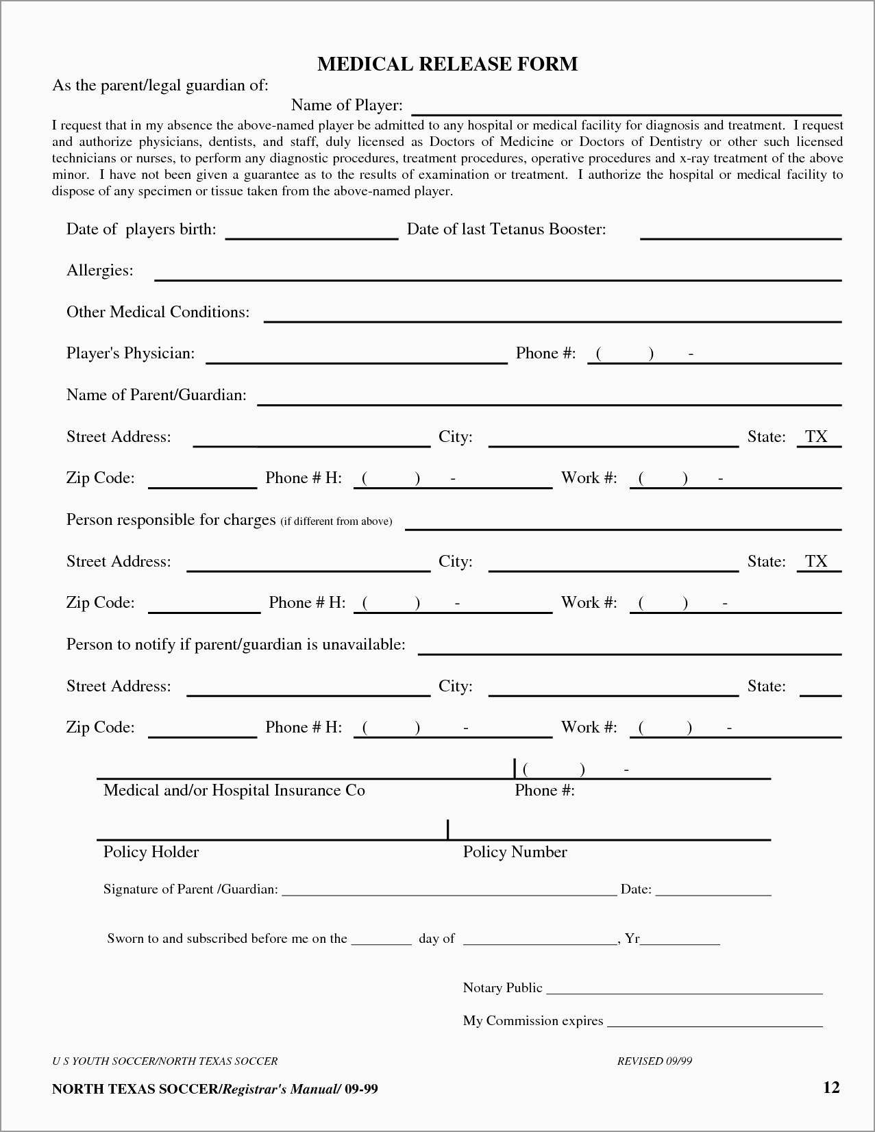 Lovely Free Medical Discharge Forms Templates | Best Of Template - Free Printable Medical Forms