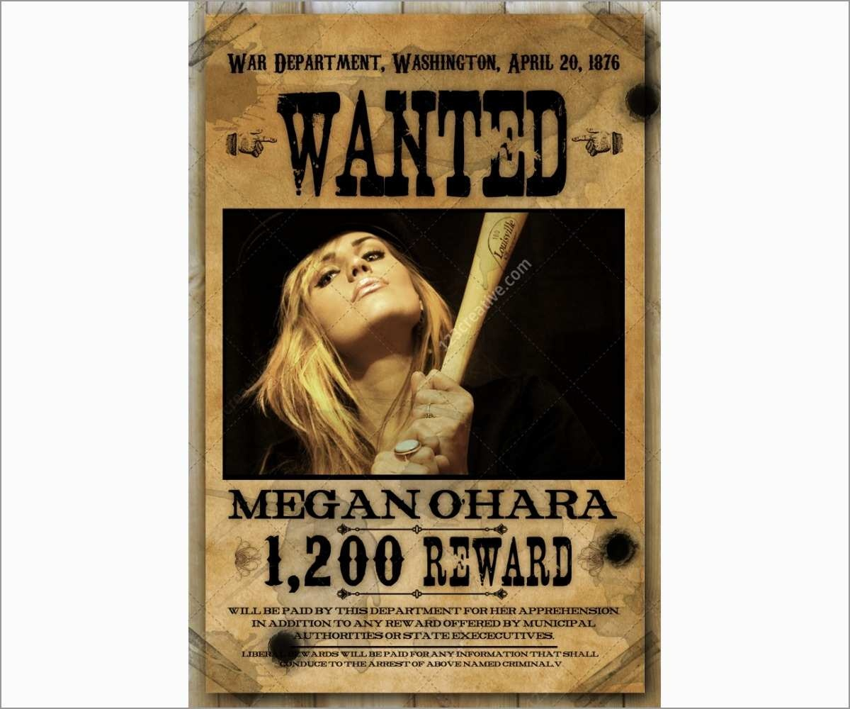 Lovely Wild West Wanted Poster Template Free   Best Of Template - Free Printable Wanted Poster Old West