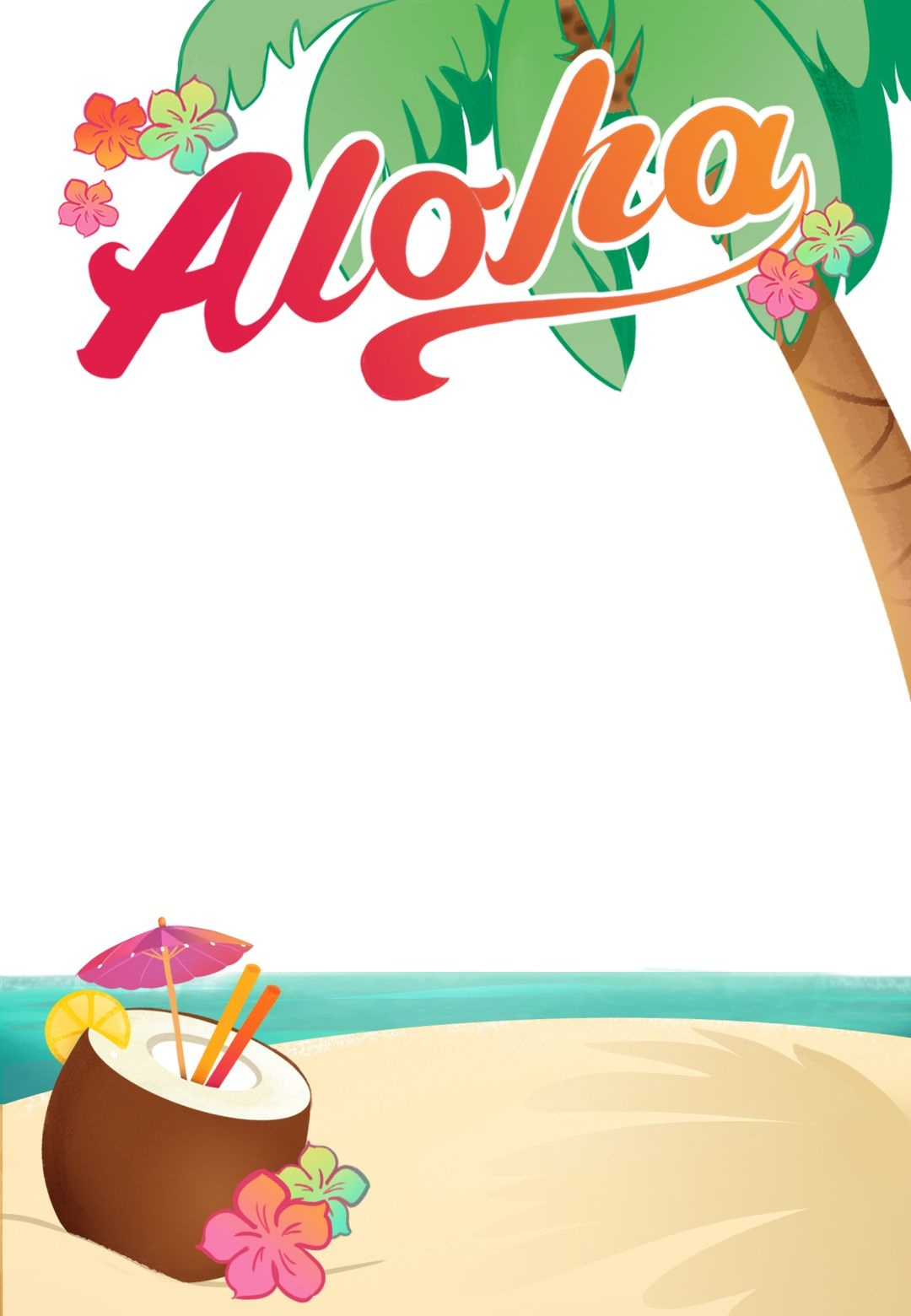 Luau Party - Free Printable Summer Party Invitation Template - Hawaiian Party Invitations Free Printable