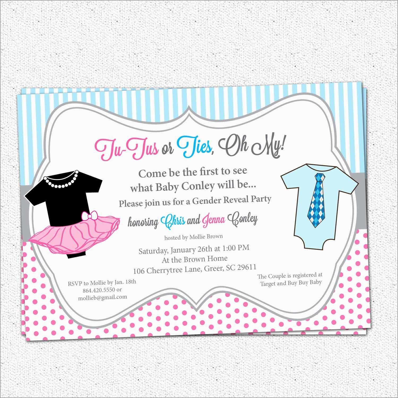 Luxury Free Printable Gender Reveal Invitation Templates | Best Of - Free Printable Gender Reveal Templates