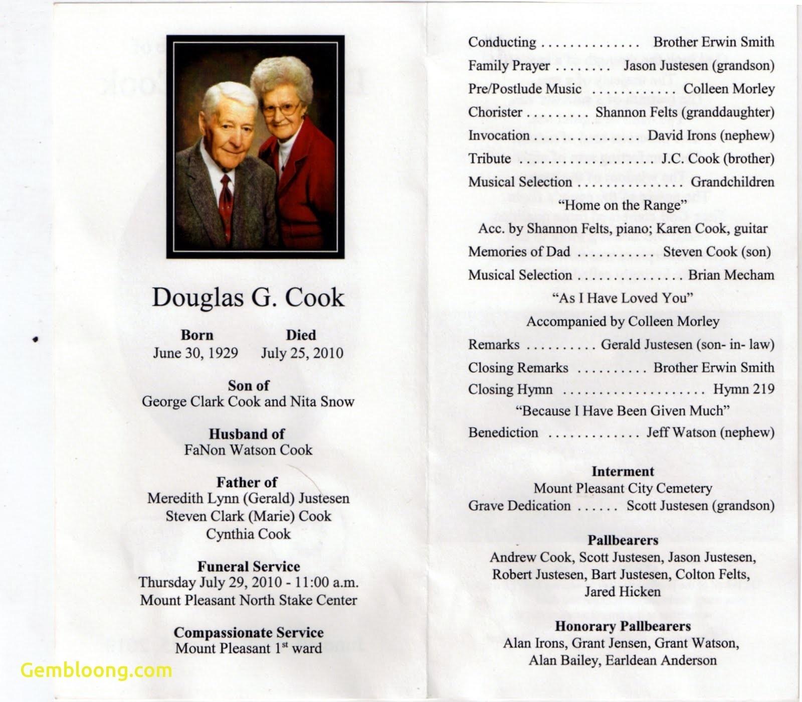 Luxury Memorial Service Program Template   Www.pantry-Magic - Free Printable Funeral Program Template