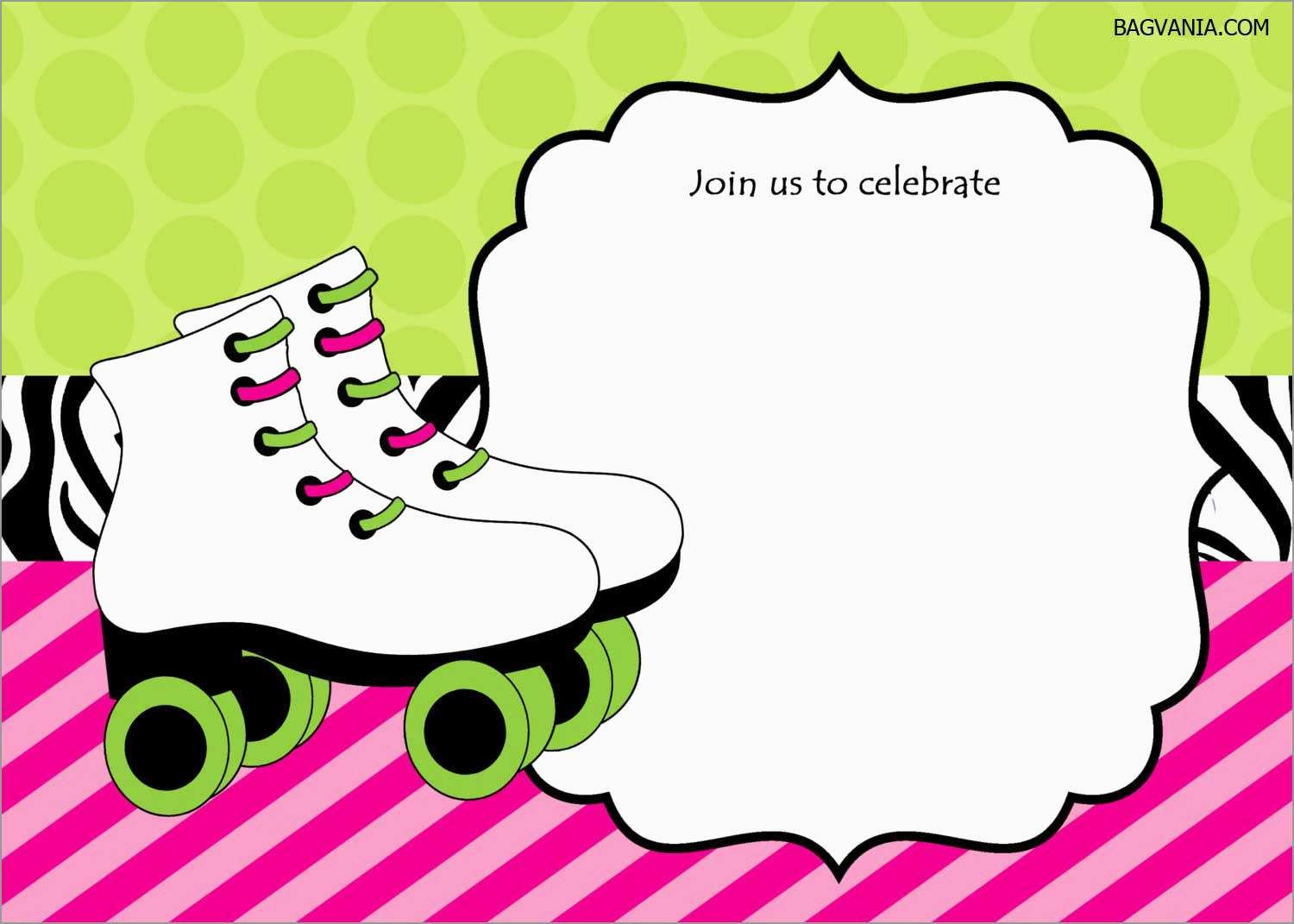 Luxury Skating Party Invitation Template Free | Best Of Template - Free Printable Skateboard Birthday Party Invitations