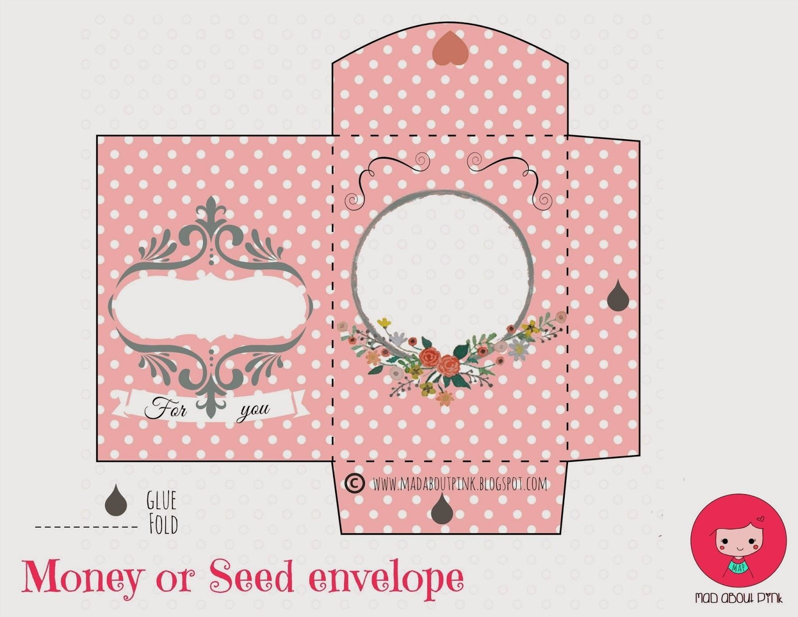Mad About Pink: Freebie | Papercrafts | Printable Gift Cards, Money - Free Printable Money Envelopes