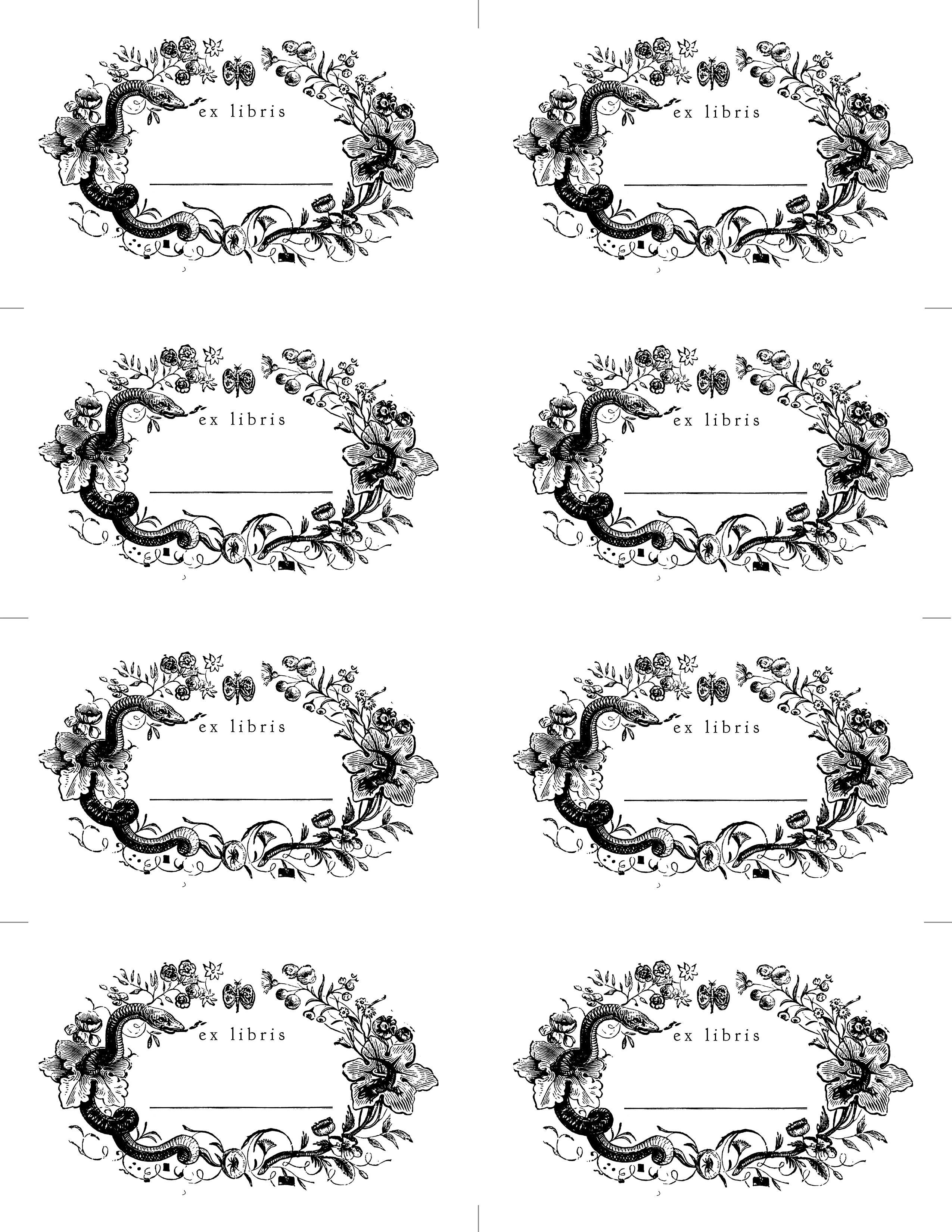 Made With Love: Bookplates | Poster | Paper Book, Books, Snake - Free Printable Christmas Bookplates