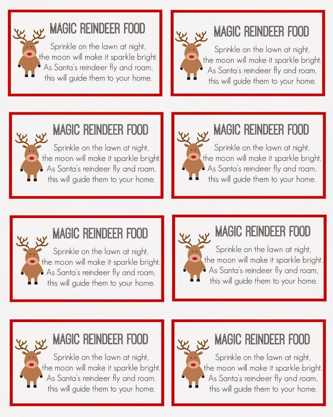 Magic Reindeer Food | Christmas | Reindeer Food, Magic Reindeer Food - Reindeer Food Poem Free Printable