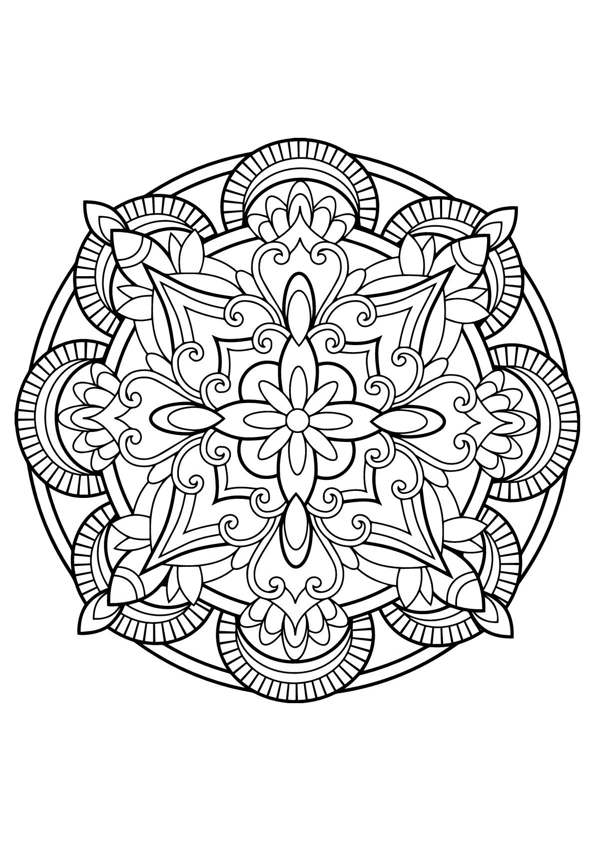Mandala From Free Coloring Books For Adults 23 - M&alas Adult - Free Printable Mandalas