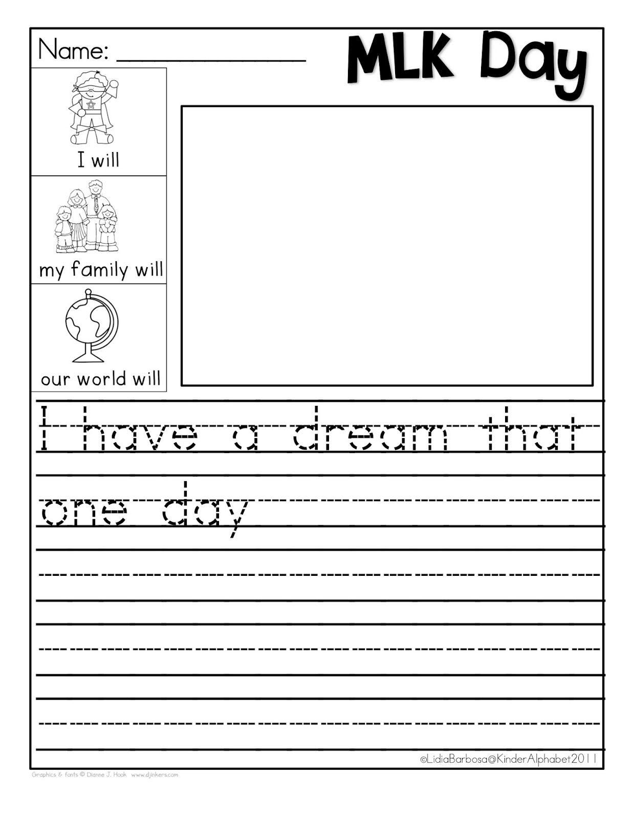 Martin Luther King Jr. Freebie { I Have A Dream } | Classroom - Free Printable Martin Luther King Jr Worksheets For Kindergarten