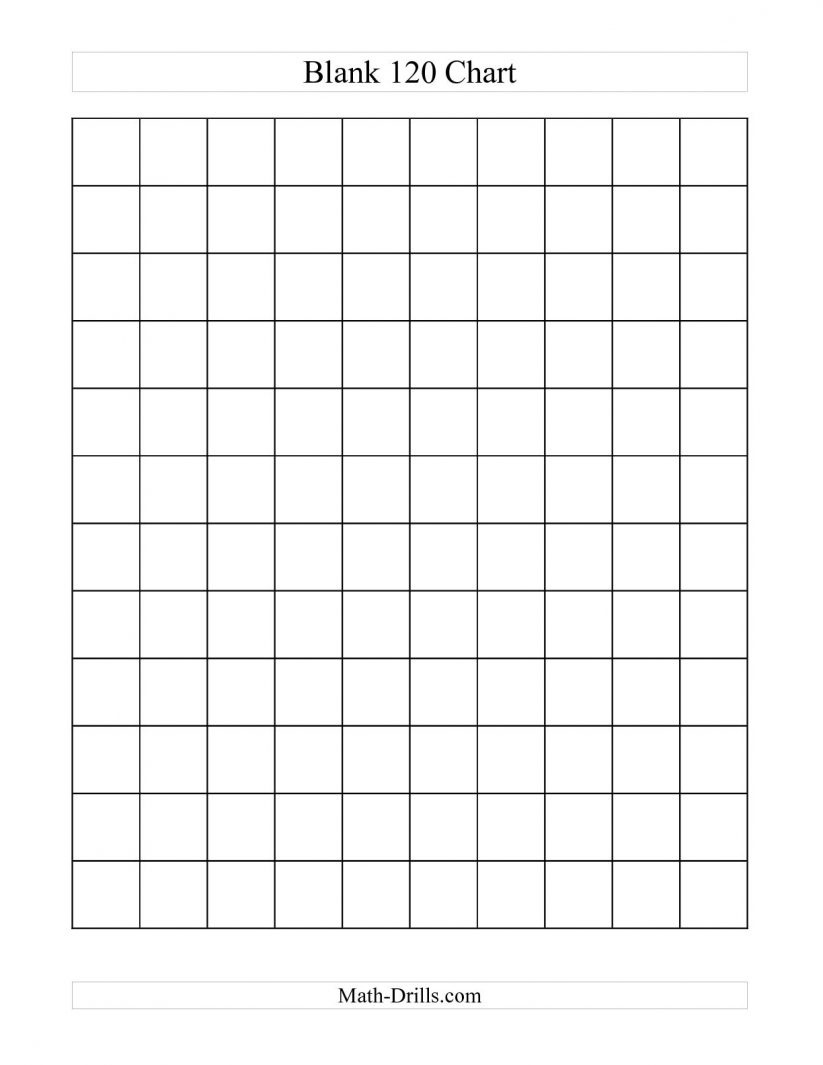 Math : Blank Hundreds Chart Blank Hundreds Chart Grid. Blank - Free Printable Blank 1 120 Chart