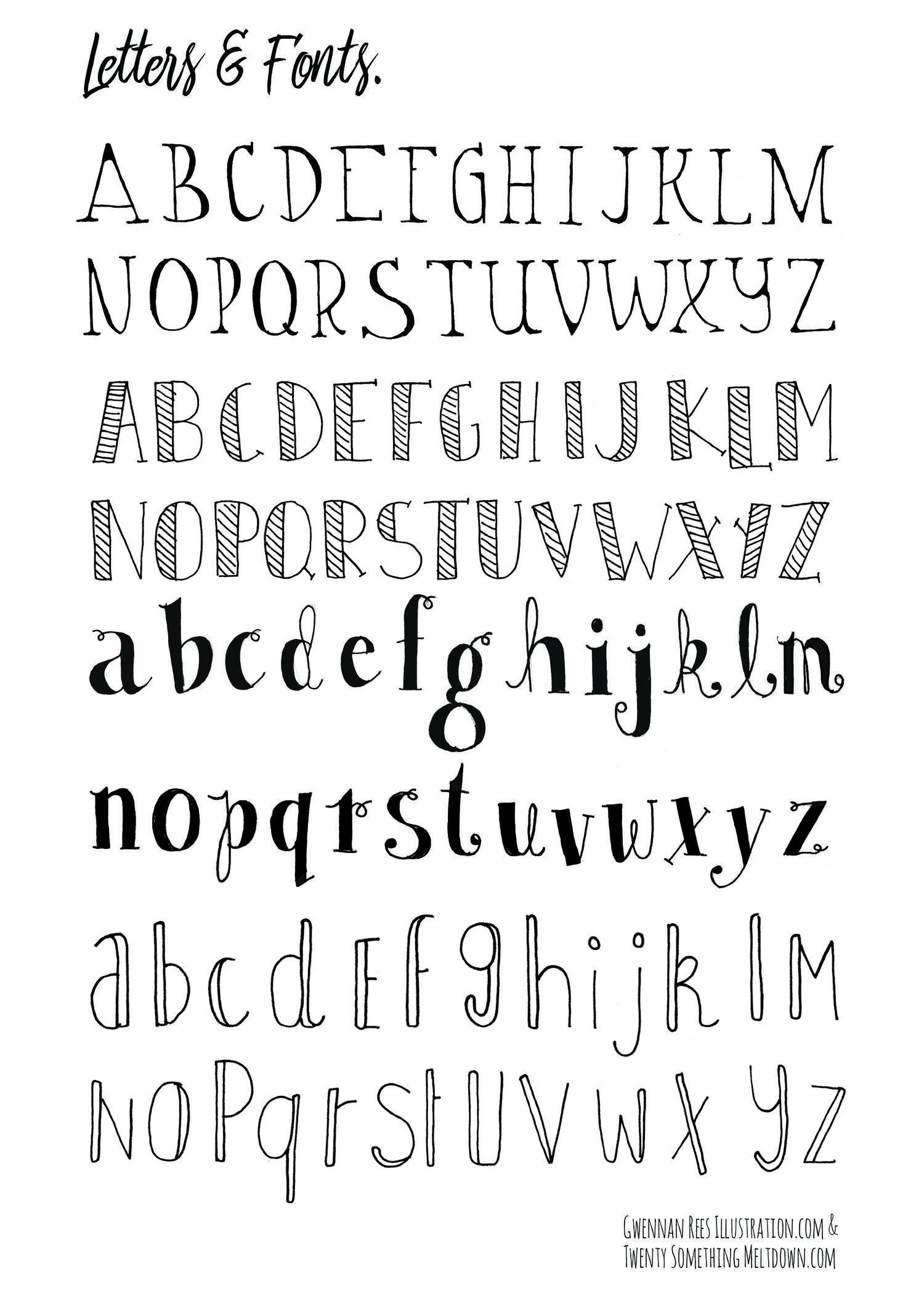 May 14 ***free*** Bullet Journal Printables. | ❤ Bullet Journal - Free Printable Fonts No Download