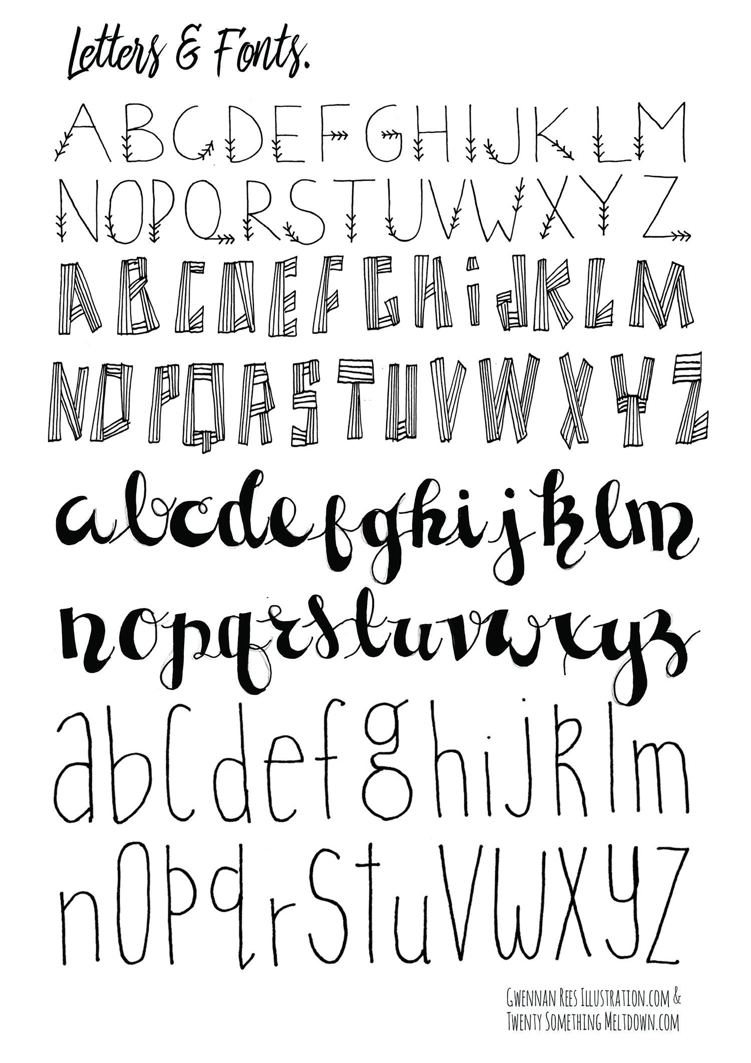 May 14 ***free*** Bullet Journal Printables. | Handlettering - Free Printable Fonts No Download