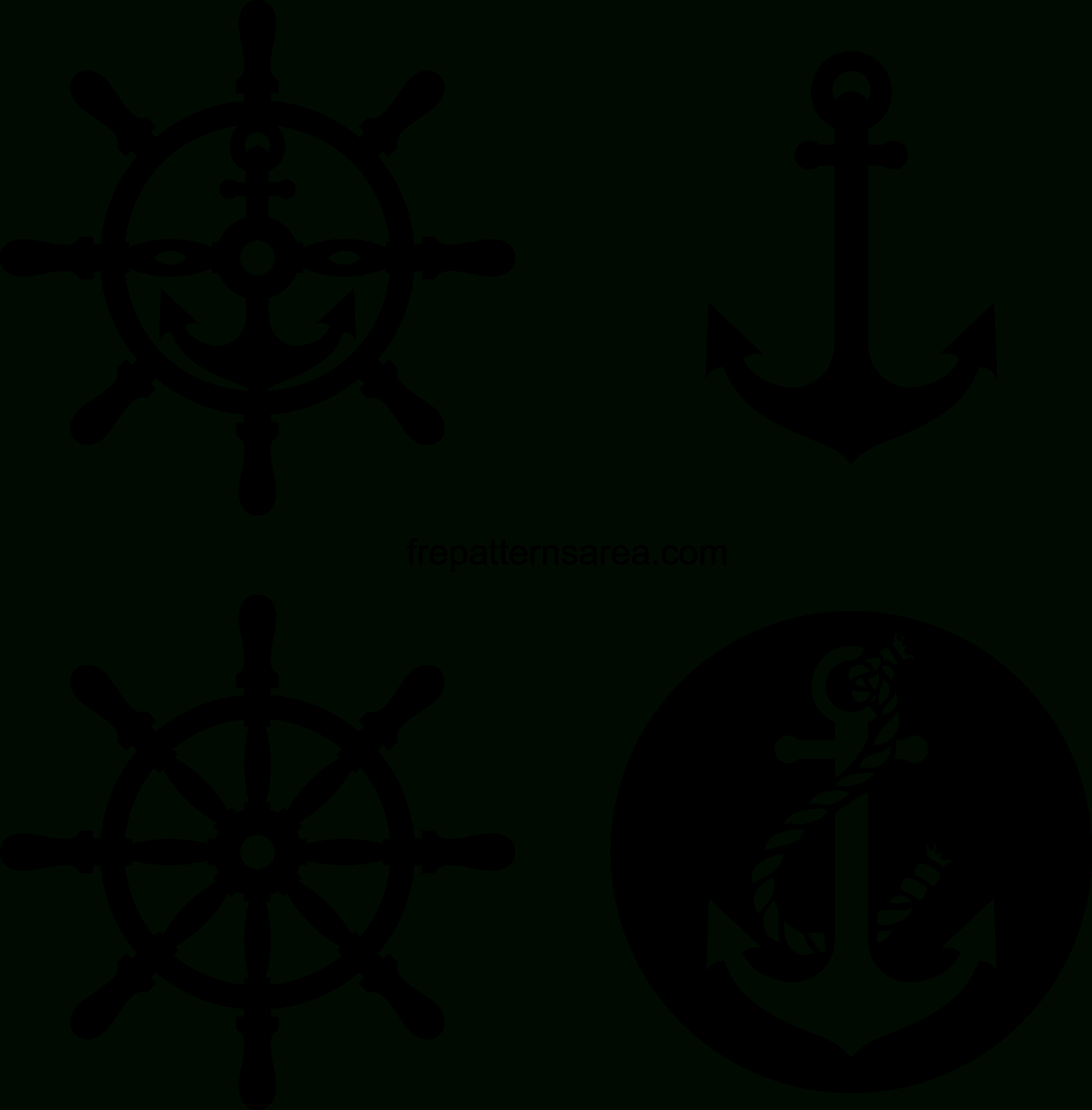 Meaning Of Anchor And Rudder Symbol And Vectors - Free Printable Anchor Template