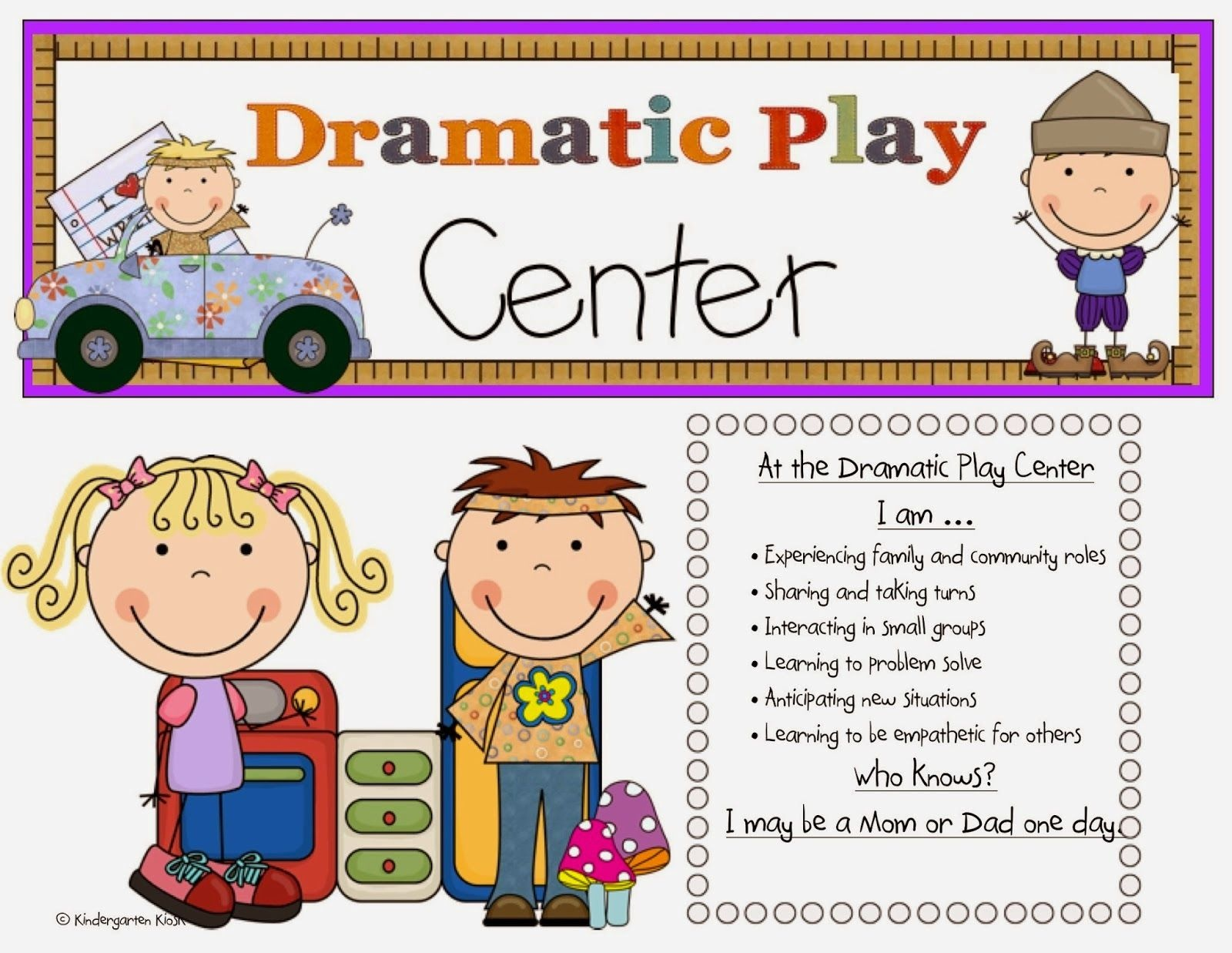 Meeting Common Core Standards Through Dramatic Play | School Stuff - Free Printable Learning Center Signs