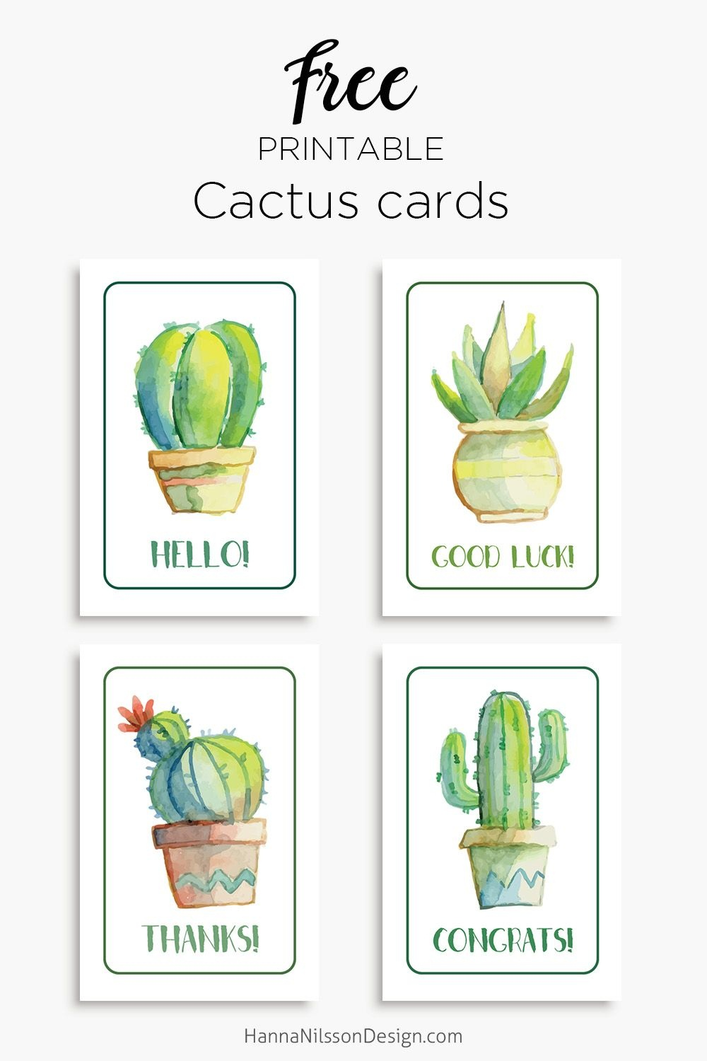 Members | Free Printables | Free Thank You Cards, Birthday Card - Free Printable Cactus