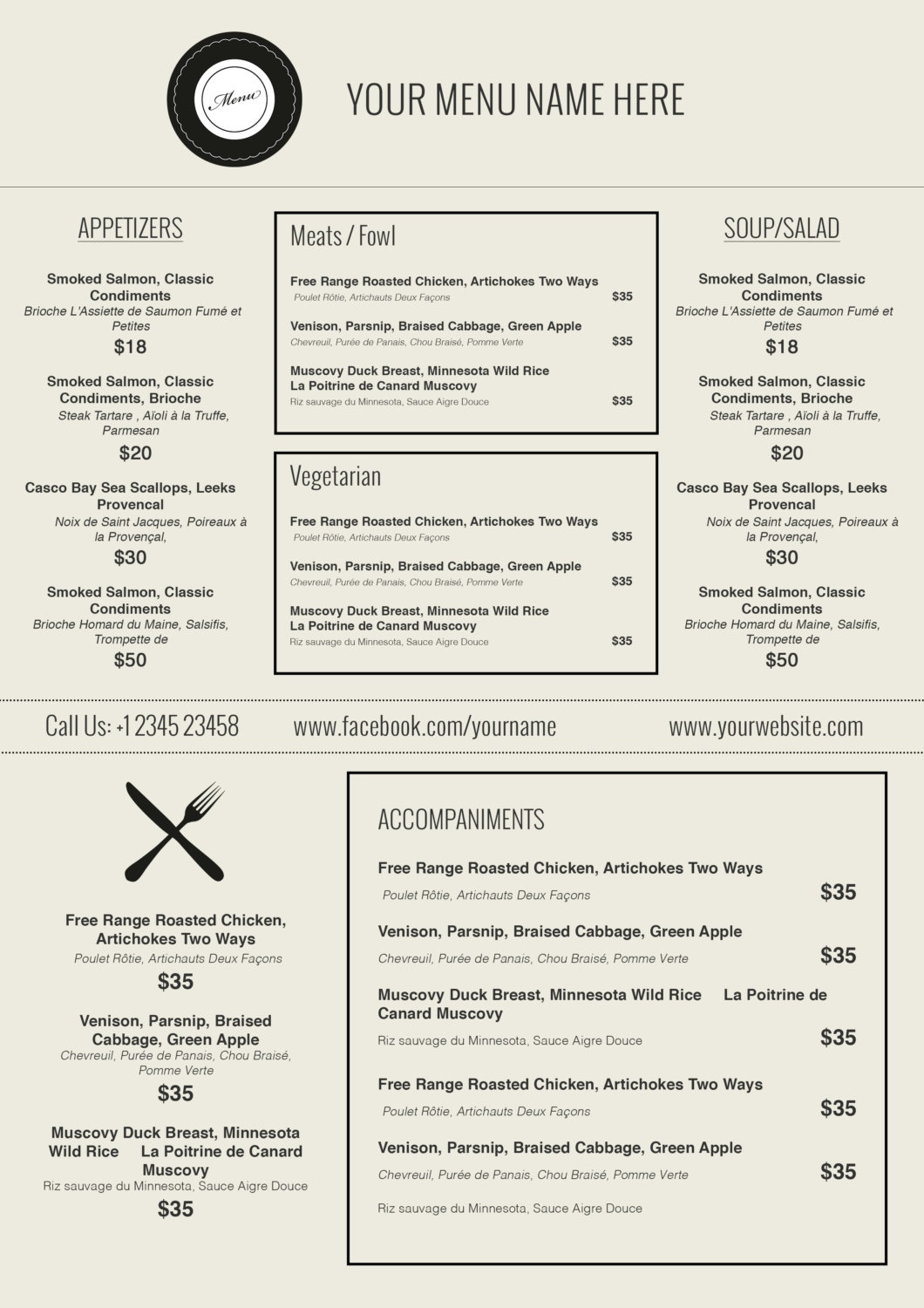 Microsoft Word Menu Templates - Demir.iso-Consulting.co - Menu Template Free Printable Word