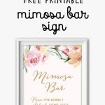 Mimosa Bar Free Watercolor Flowers Printable In 2019 | Wedding   Free Bridal Shower Printable Decorations