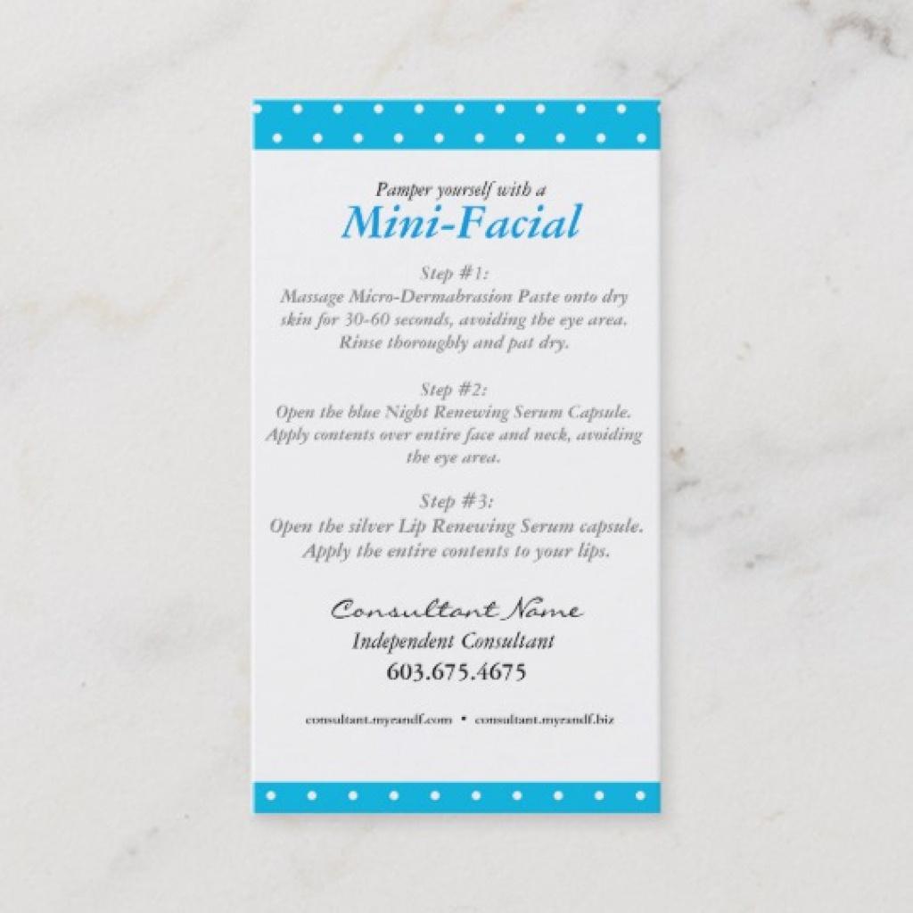 Mini Facial Instruction Card | Zazzle Within Rodan And Fields Mini - Rodan And Fields Mini Facial Instructions Printable Free