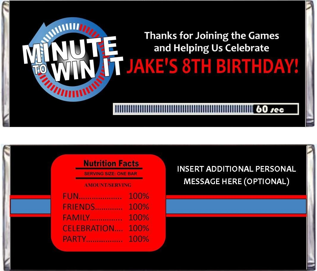Minute To Win It Party Supplies, Printables, And Invitations - Free Printable Minute To Win It Invitations