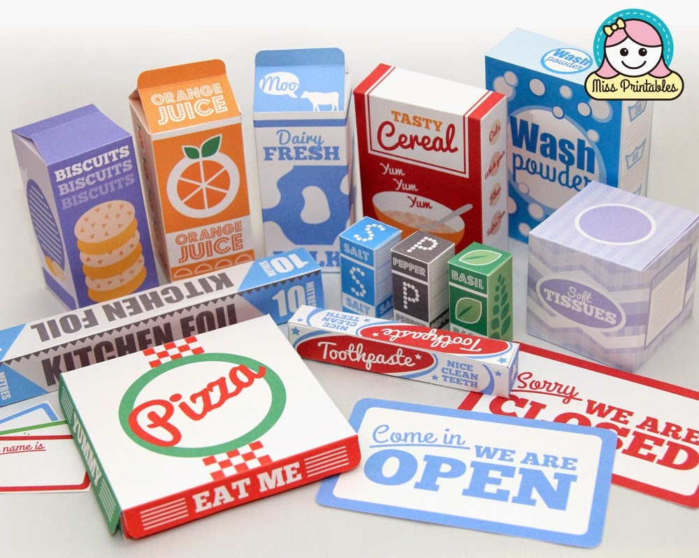 Miss Printables: 2014 - Free Printable Play Food Labels