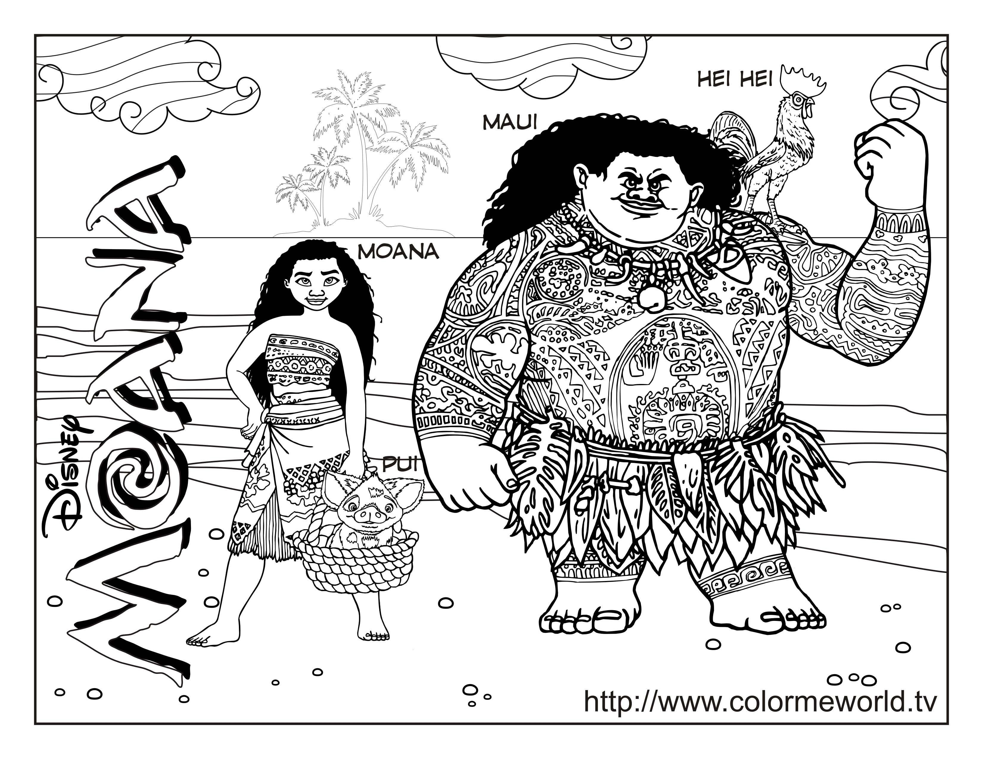 Moana Coloring Pages : Free Printable Moana Pdf Coloring Sheets For - Moana Coloring Pages Free Printable