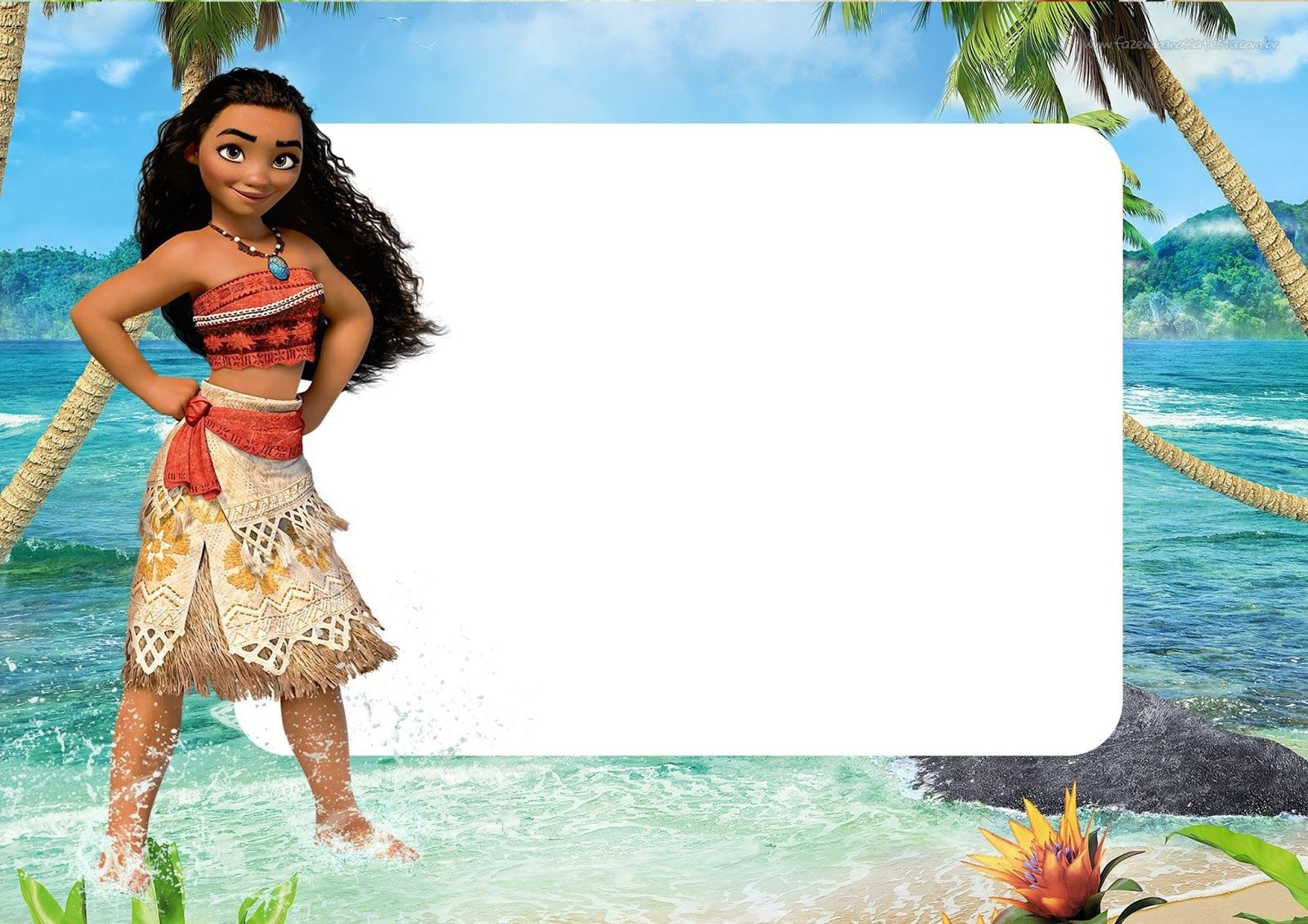 photograph regarding Moana Printable Invitations titled Absolutely free Printable Moana Banner Cost-free Printable