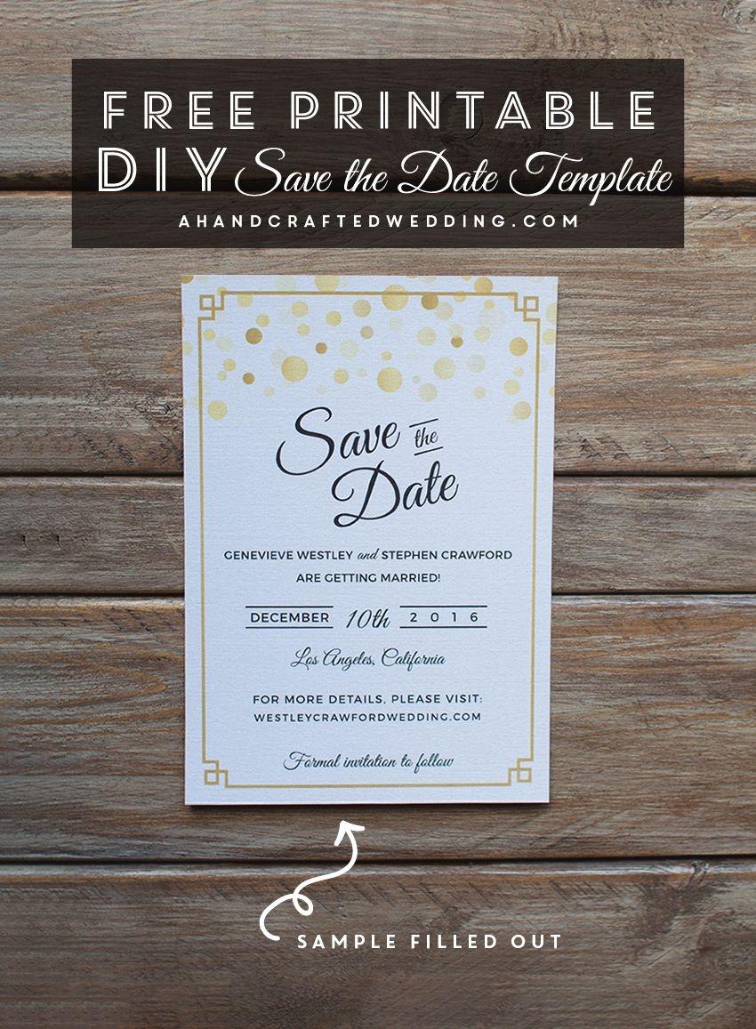Modern Diy Save The Date Free Printable | | Free Wedding Printables - Free Printable Save The Date Invitation Templates