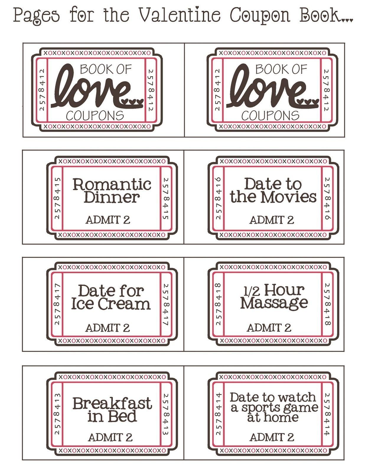 Mommyday Crafternight: {Free Printable} Valentine Coupon - Free Printable Homemade Coupon Book