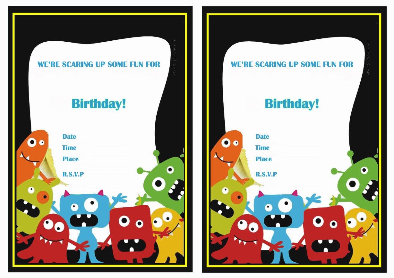 Monsters University Birthday Invitations   Birthday Printable - Free Printable Monsters Inc Birthday Invitations