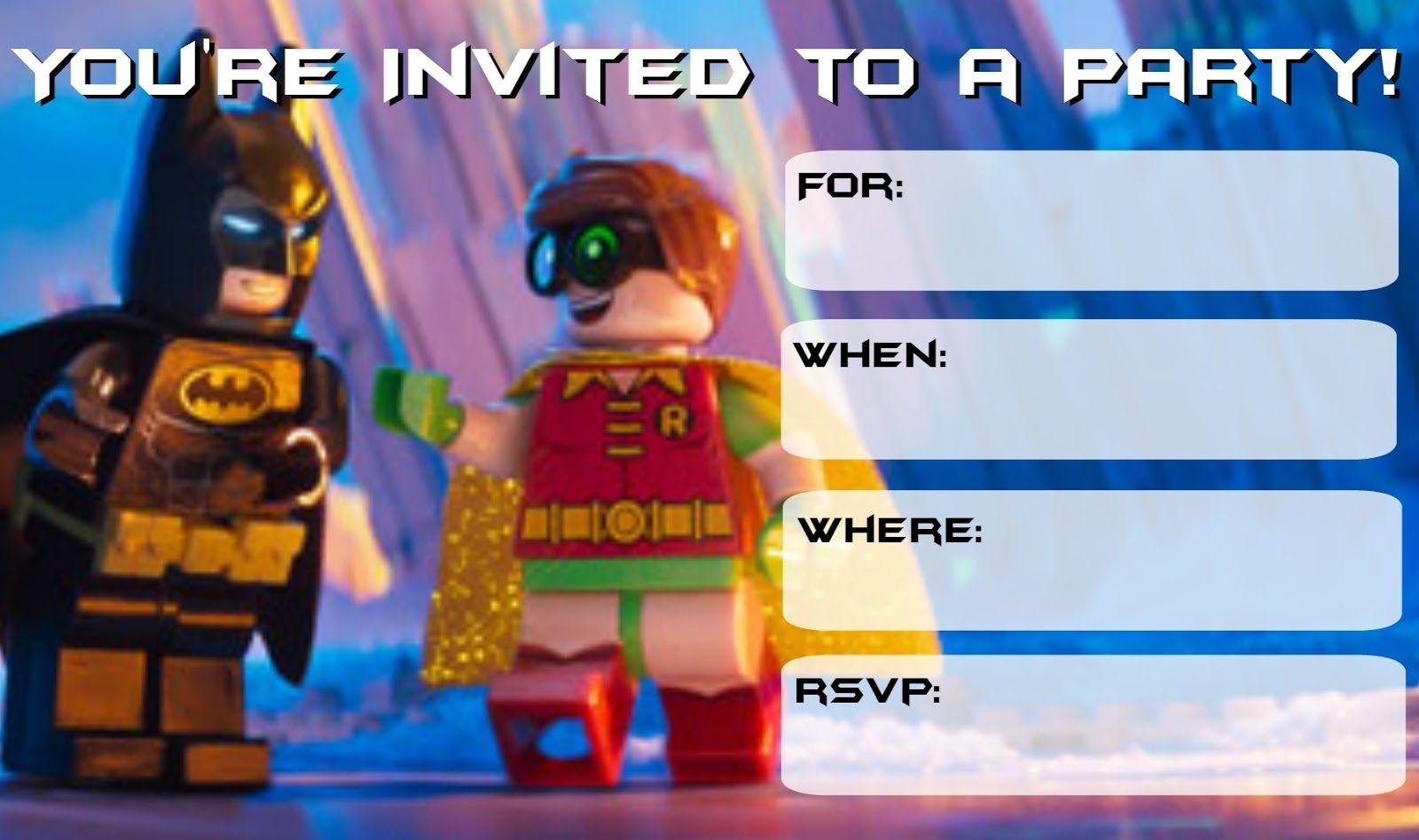 More Lego Batman Party Invitations | Drew's Birthday | Lego Batman - Lego Batman Party Invitations Free Printable