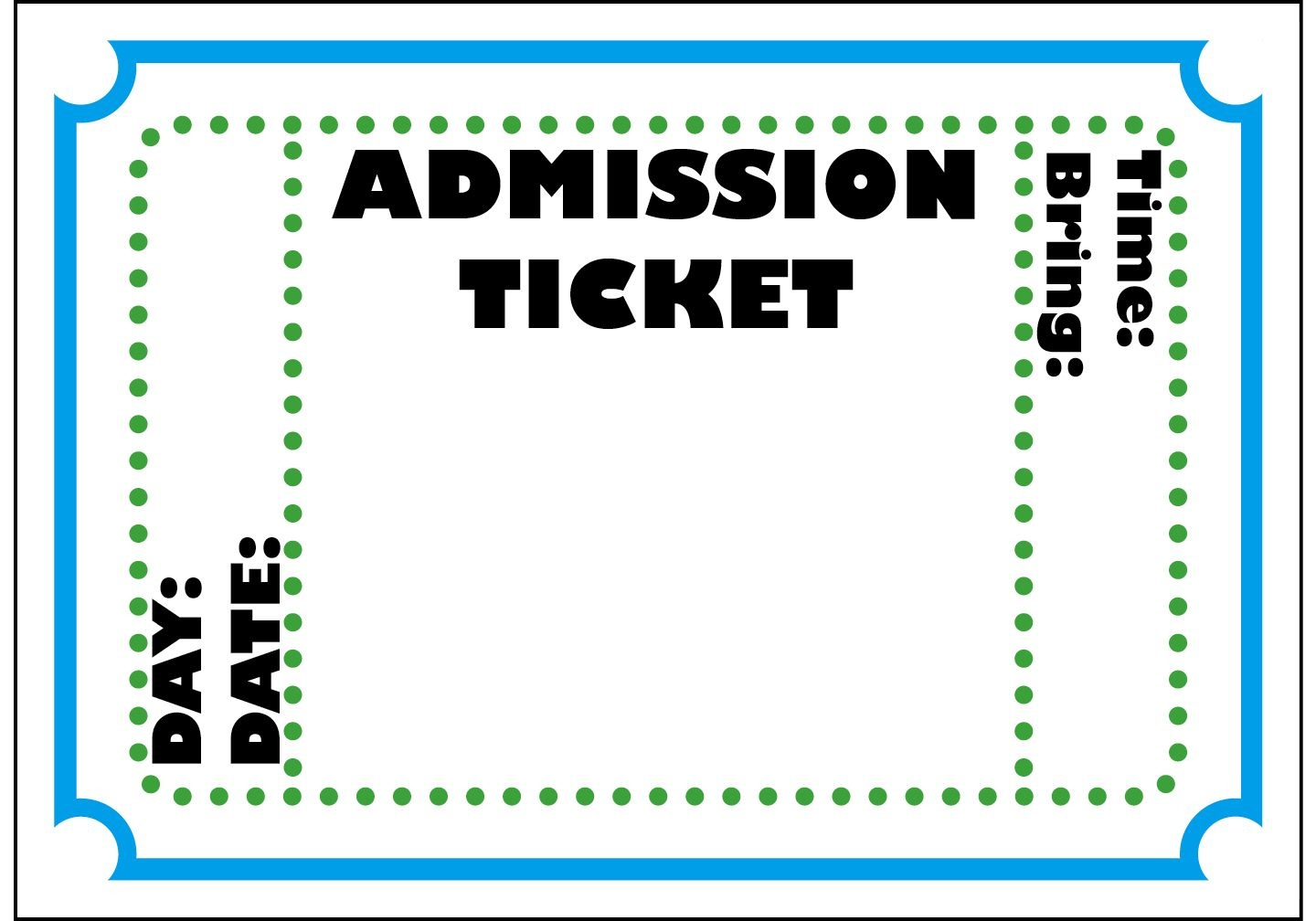Mormon Share } Admission Ticket   Colossal Coaster World Vbs 2013 - Free Printable Admission Ticket Template