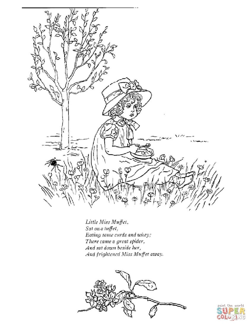 Mother Goose Nursery Rhymes Coloring Pages   Free Coloring Pages - Free Printable Mother Goose Nursery Rhymes