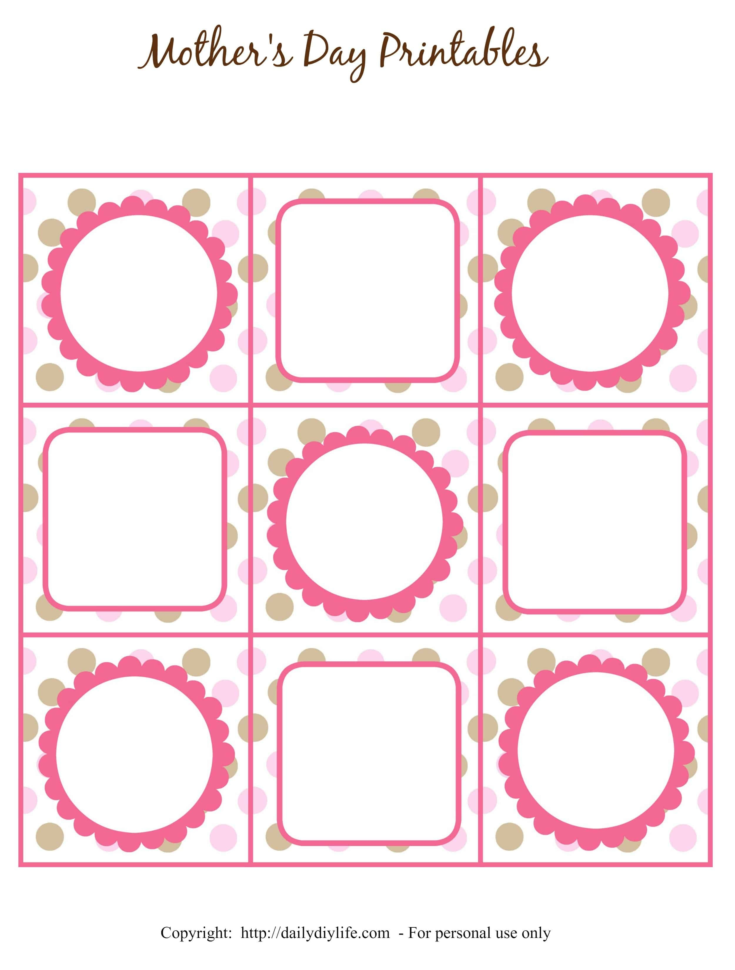 Mother's Day Free Printable Gift Tags Or Cupcake Toppers - Free Printable Favor Tags